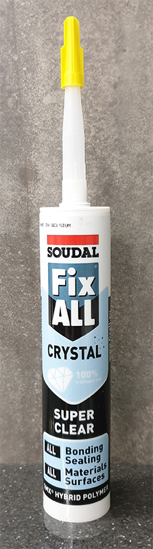 SOUDAL FIX ALL HIGH TACK GRAB ADHESIVE 290ML - CRYSTAL CLEAR