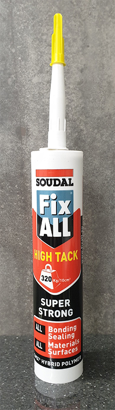 SOUDAL FIX ALL HIGH TACK GRAB ADHESIVE 290ML - WHITE