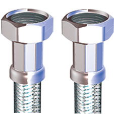 "COMPRESSION FLEXIBLE TAP CONNECTOR 1/2"" X 1/2"" X 300MM"