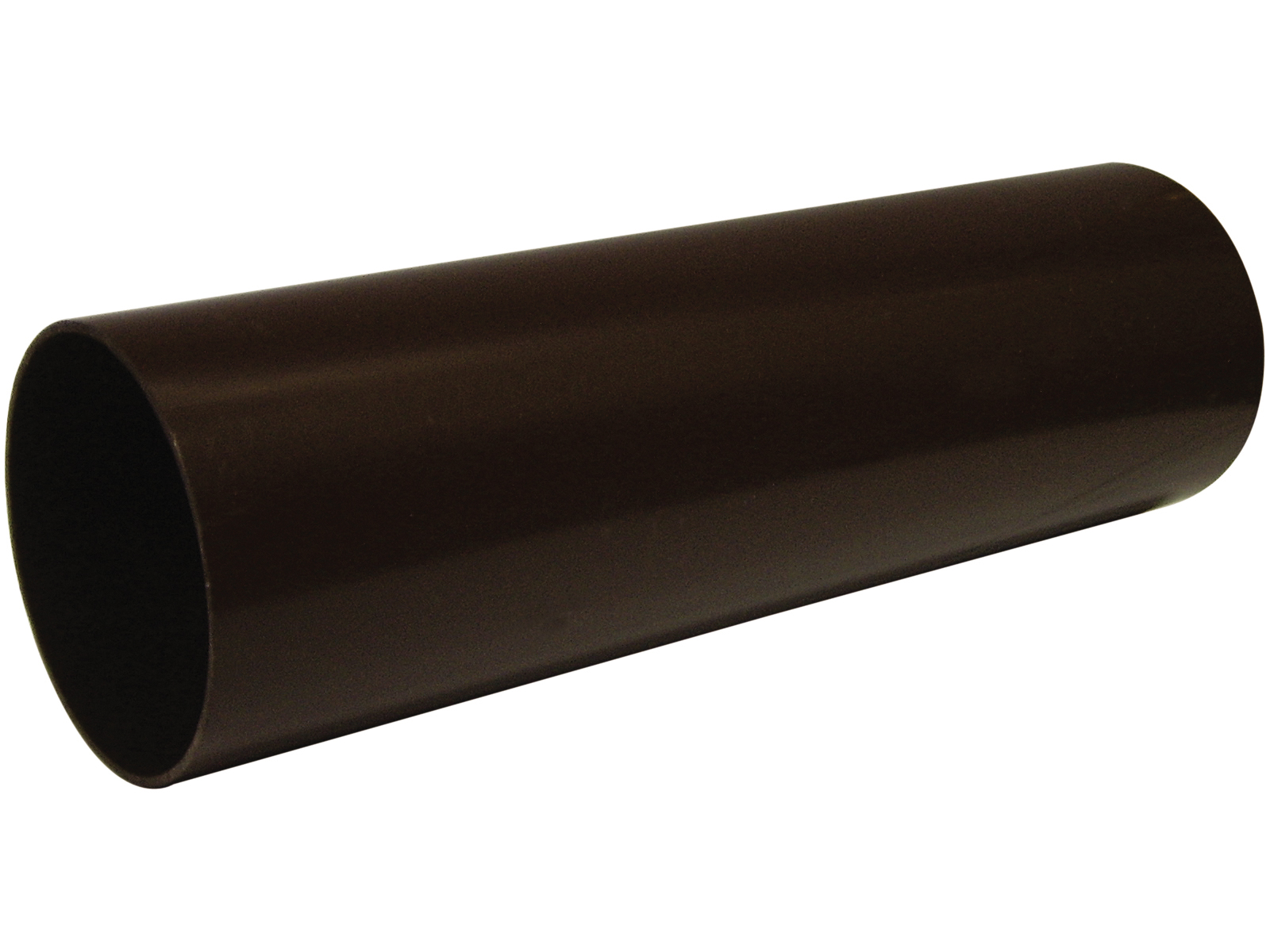 FLOPLAST 68MM ROUND DOWNPIPE - RP2.5 PIPE 2.5M - BROWN