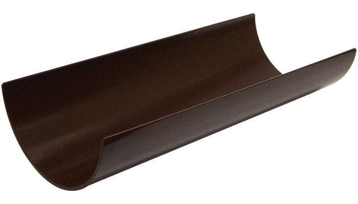 Floplast RG4BR 112mm Half Round Gutter 4 Metre - Brown