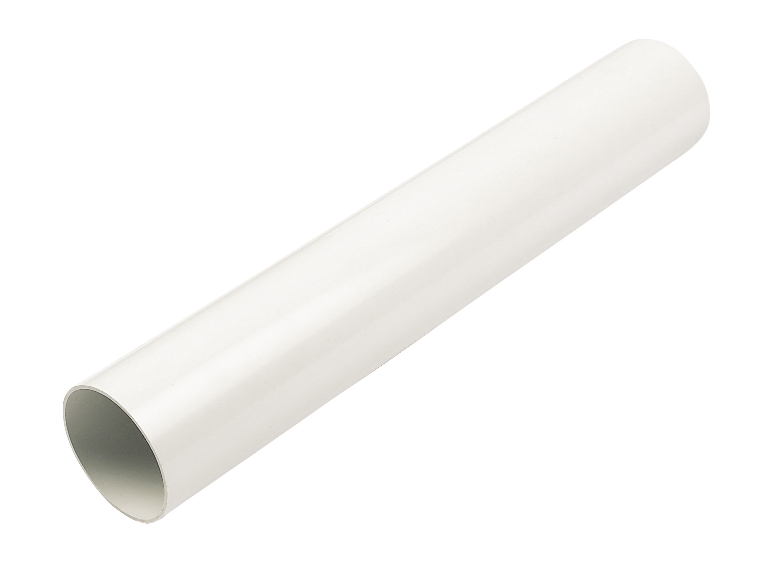 FLOPLAST 68MM ROUND DOWNPIPE - RP2.5 PIPE 2.5M - WHITE