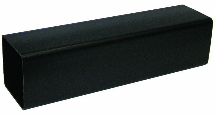 FLOPLAST 65MM SQUARE DOWNPIPE - RPS2.5 PIPE 2.5M - BLACK