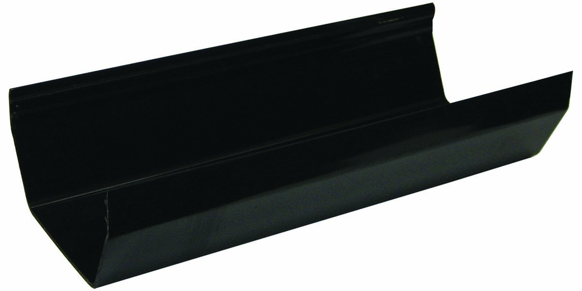 RGS4BL 114MM SQUARE GUTTER BLACK