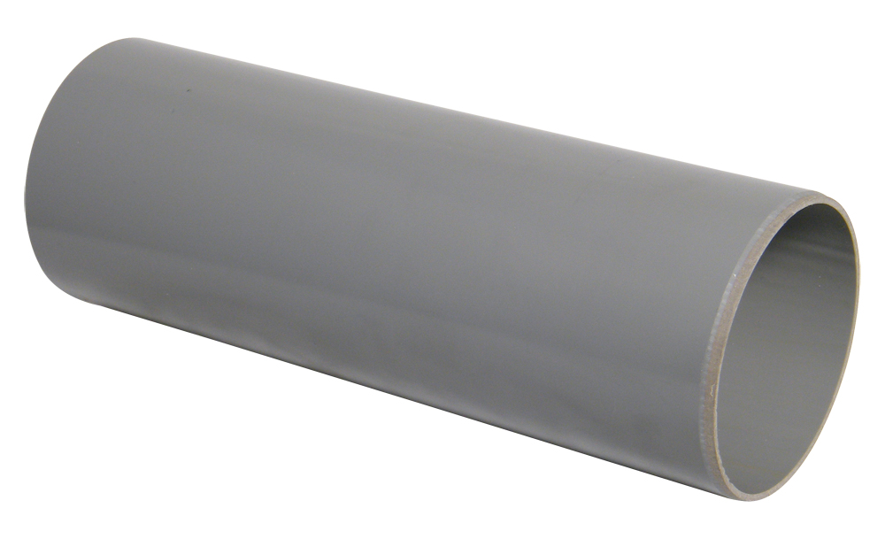 FLOPLAST SP1GR 3M PLAIN ENDED SOIL PIPE 110MM GREY (also available per metre)