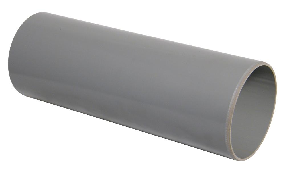 FLOPLAST 110MM RING SEAL SOIL SYSTEM - SP1 PLAIN ENDED PIPE - GREY