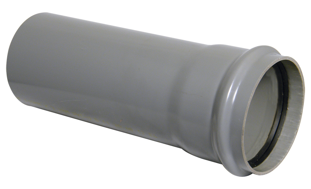 FLOPLAST 110MM RING SEAL SOIL SYSTEM - SP3 PIPE 3M C/W SOCK - GREY