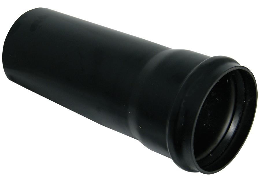 FLOPLAST 110MM RING SEAL SOIL SYSTEM - SP3 PIPE 3M C/W SOCK - BLACK
