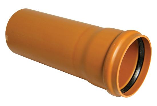 Floplast D146 110mm Underground Drainage Pipe Single Socket 6 Metre