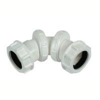 Floplast WC14 32mm Compression Waste Adjustable Bend 0 - 90 Degree