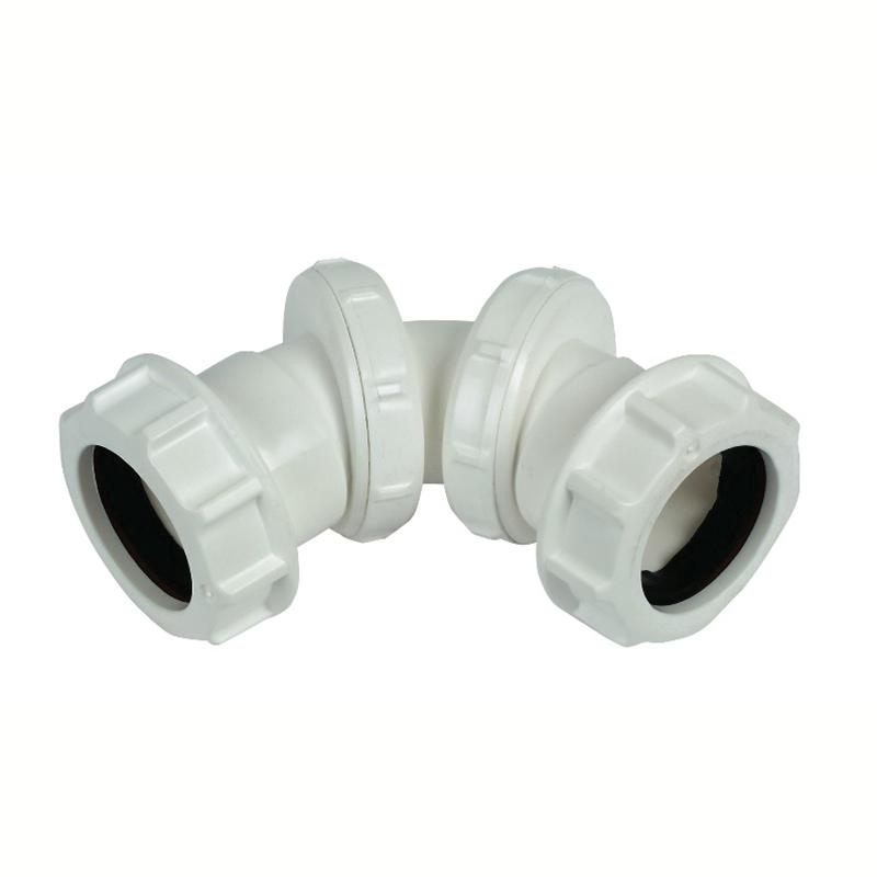 Floplast WC15 40mm Compression Waste Adjustable Bend 0 - 90 Degree