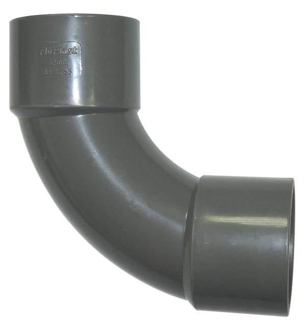 Floplast WS15GR 40mm (43mm) ABS Solvent Weld Waste System 92.5 Degree Swept Bend - Grey