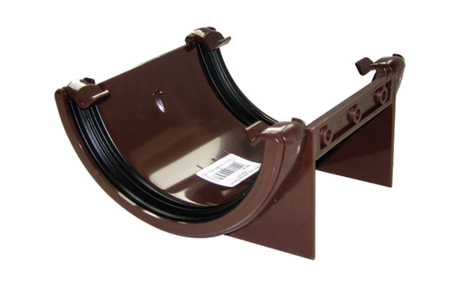 FLOPLAST HALF ROUND GUTTER - RU1 UNION BRACKET - BROWN