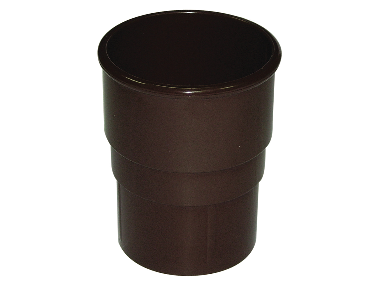 Floplast RS1BR 68mm Round Downpipe - Pipe Socket - Brown