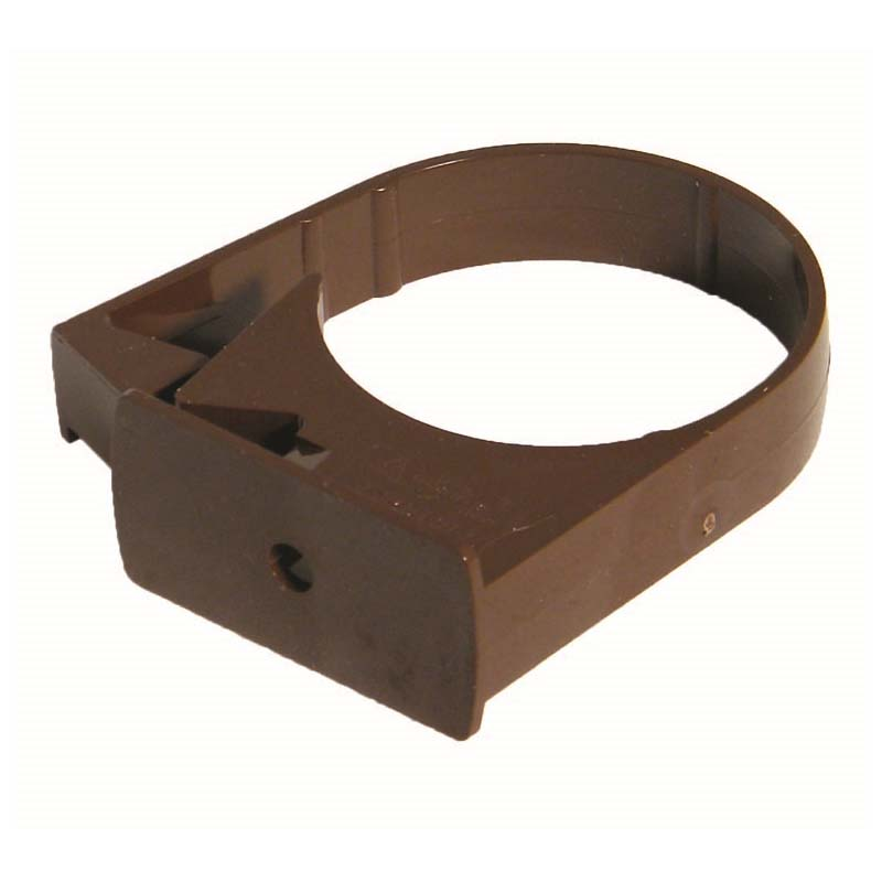 Floplast RC3BR 68mm Round Downpipe - Single Fix Pipe Clip - Brown