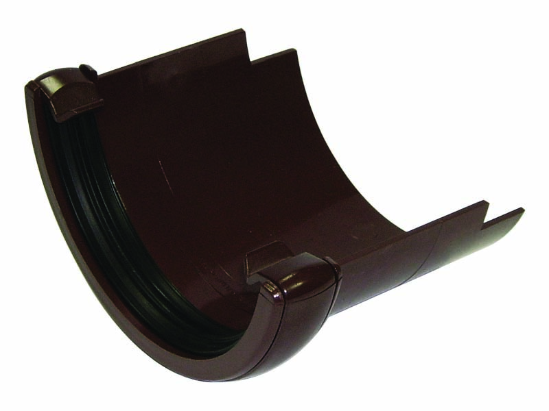 FLOPLAST HALF ROUND GUTTER - RD5 CAST IRON ADAPTOR - BROWN