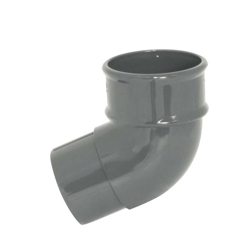 Floplast RB2GR 68mm Round Downpipe - 112.5* Offset Bend - Grey