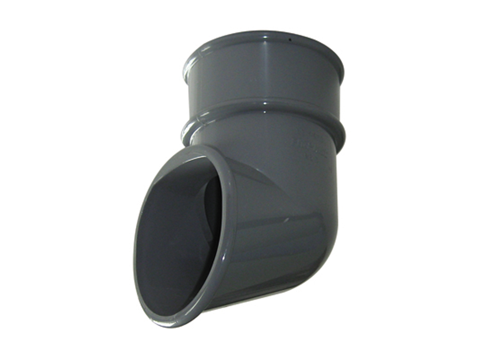 Floplast RB3GR 68mm Round Downpipe - Shoe - Grey