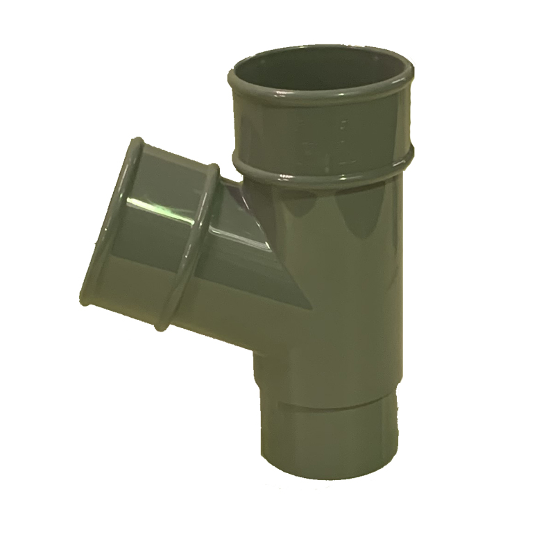 Floplast RY1GR 68mm Round Downpipe - 67.5* Branch - Grey