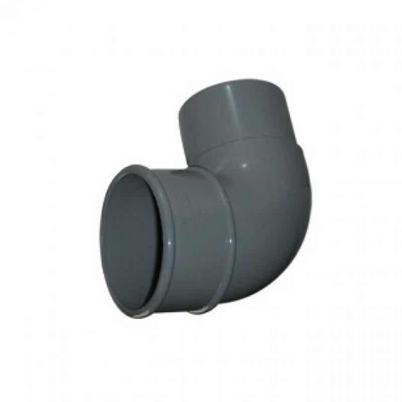 Floplast RB1GR 68mm Round Downpipe - 92.5* Offset Bend - Grey