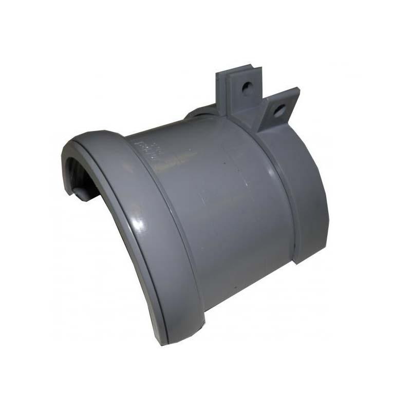 Floplast RD5GR 112mm Half Round Gutter - Cast Iron Adaptor - Grey