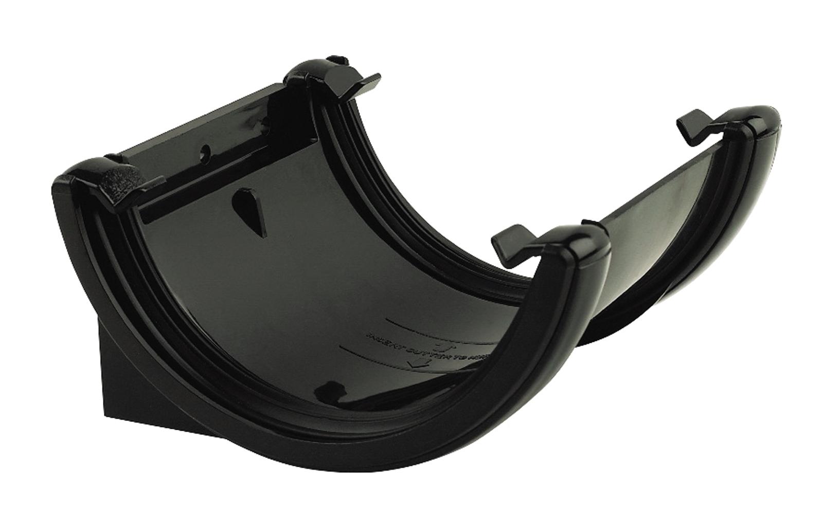 FLOPLAST HALF ROUND GUTTER - RU1 UNION BRACKET - BLACK