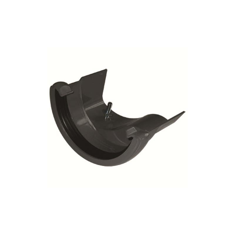 Floplast RD3BL 112mm Half Round Gutter to Cast Iron Ogee - Right Hand Adaptor - Black