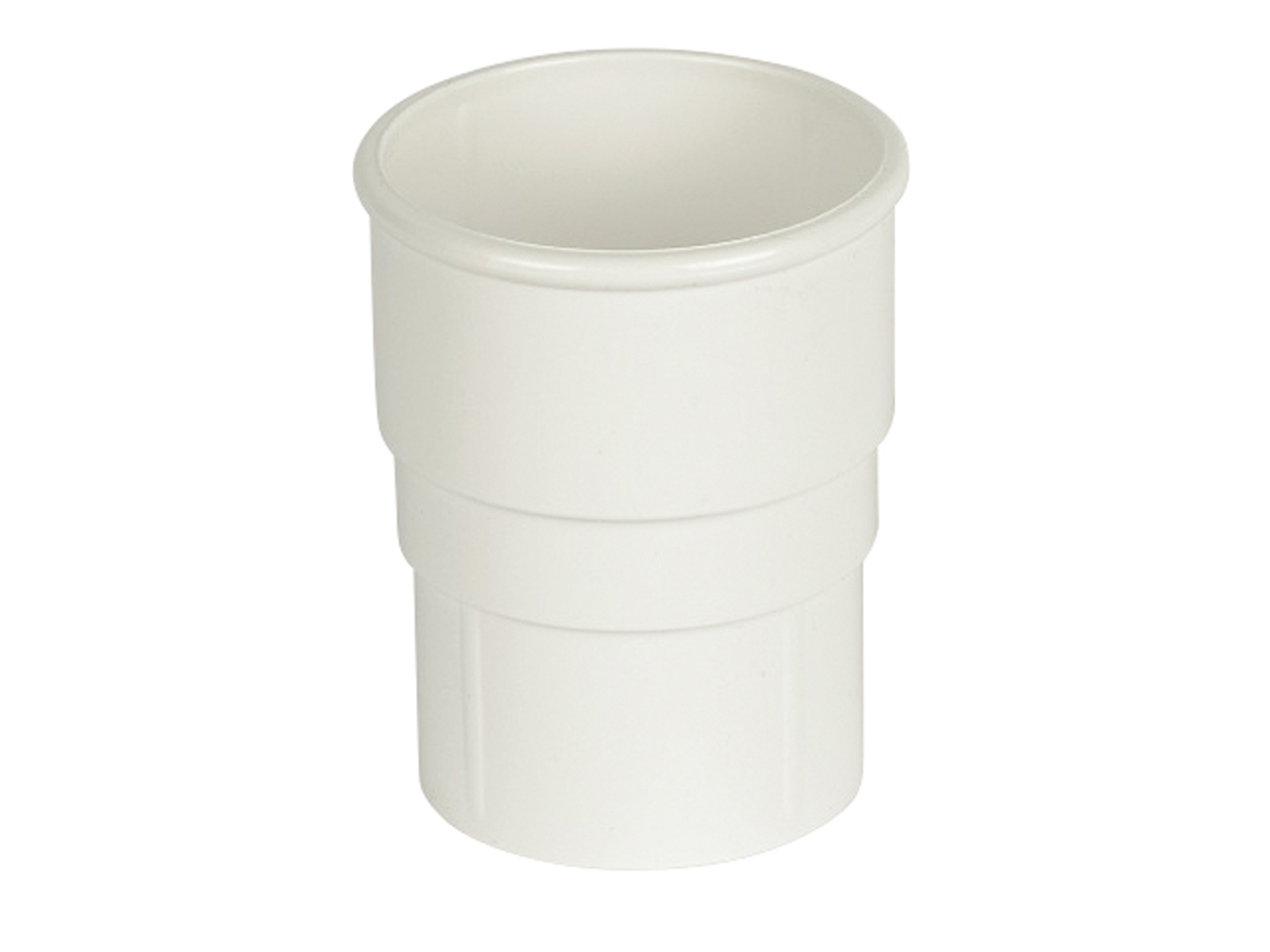 Floplast RS1WH 68mm Round Downpipe - Pipe Socket - White