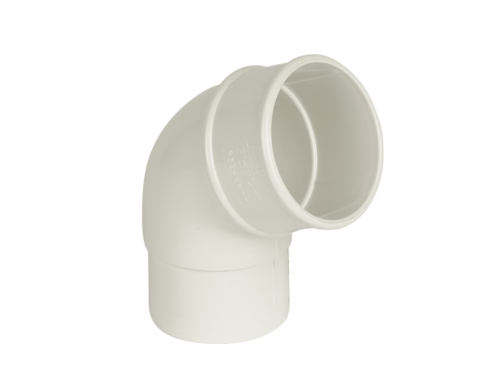 Floplast RB2WH 68mm Round Downpipe - 112.5* Offset Bend - White