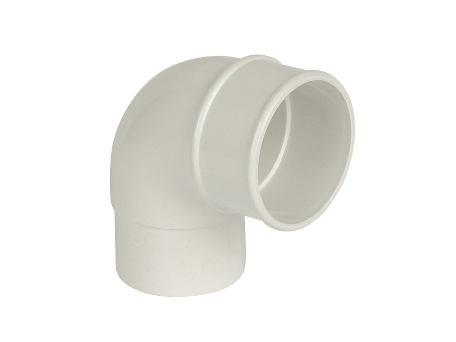 FLOPLAST RB1WH 68MM ROUND DOWNPIPE - 92.5* OFFSET BEND - WHITE