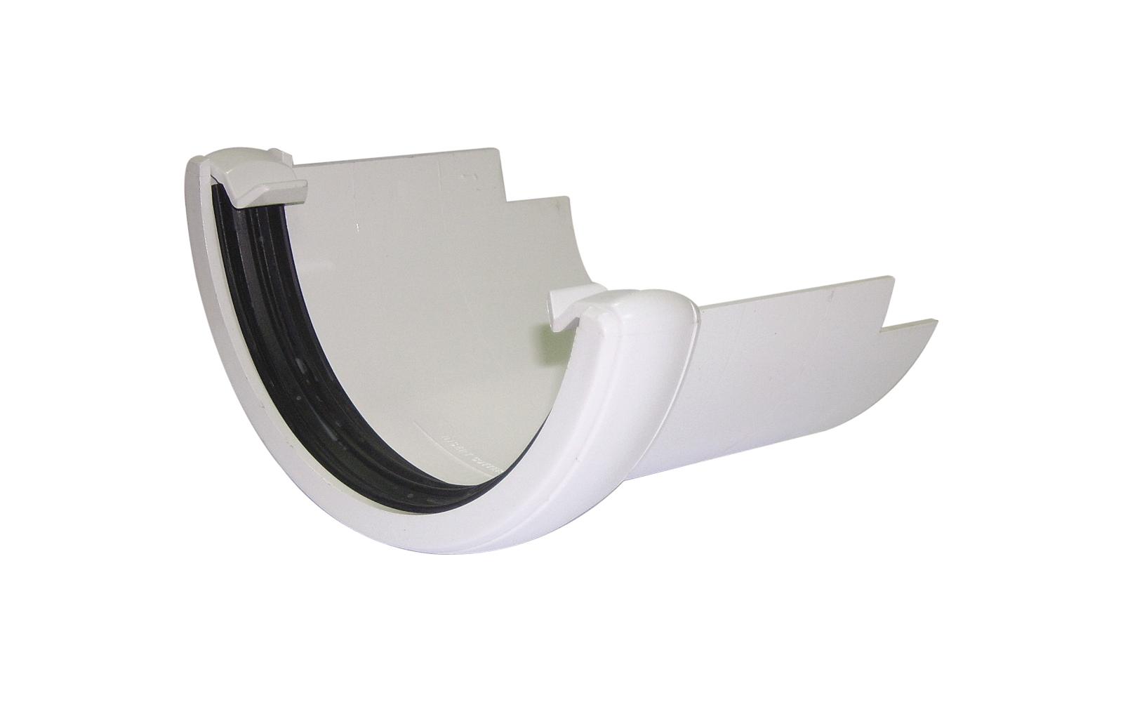 FLOPLAST HALF ROUND GUTTER - RD5 CAST IRON ADAPTOR - WHITE