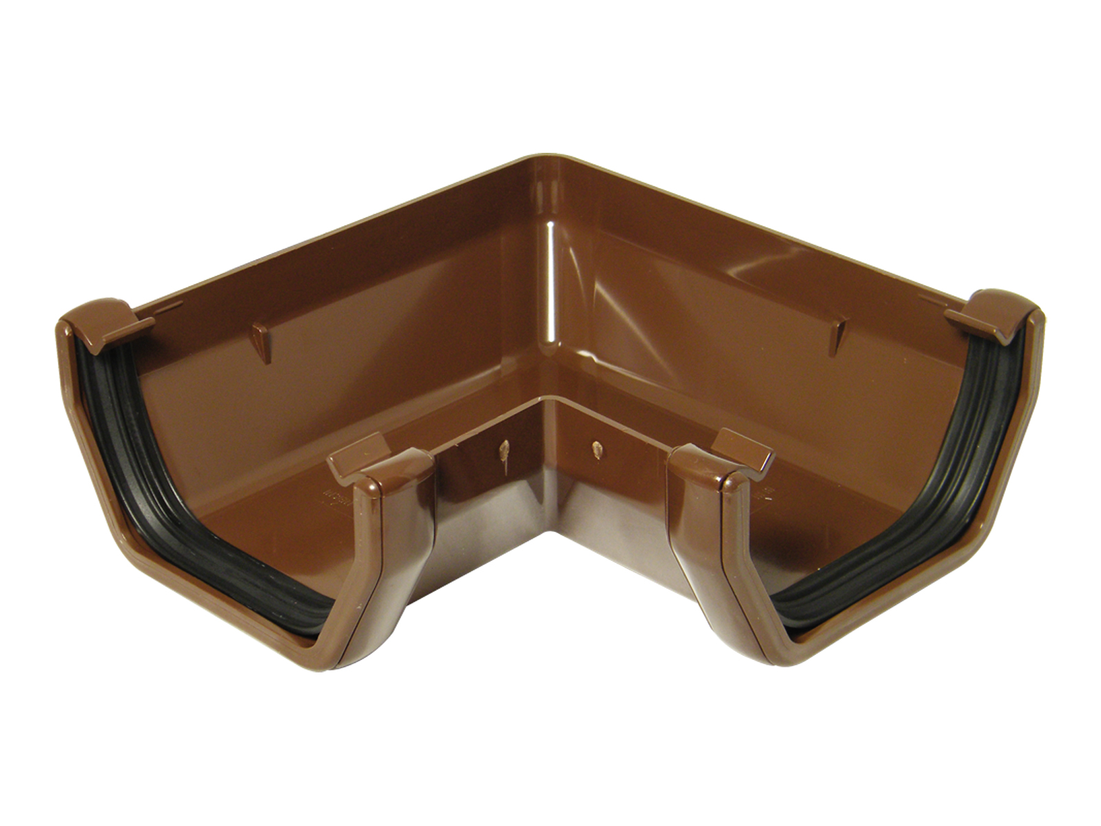 FLOPLAST SQUARE LINE GUTTER - RAS1 90* ANGLE - BROWN
