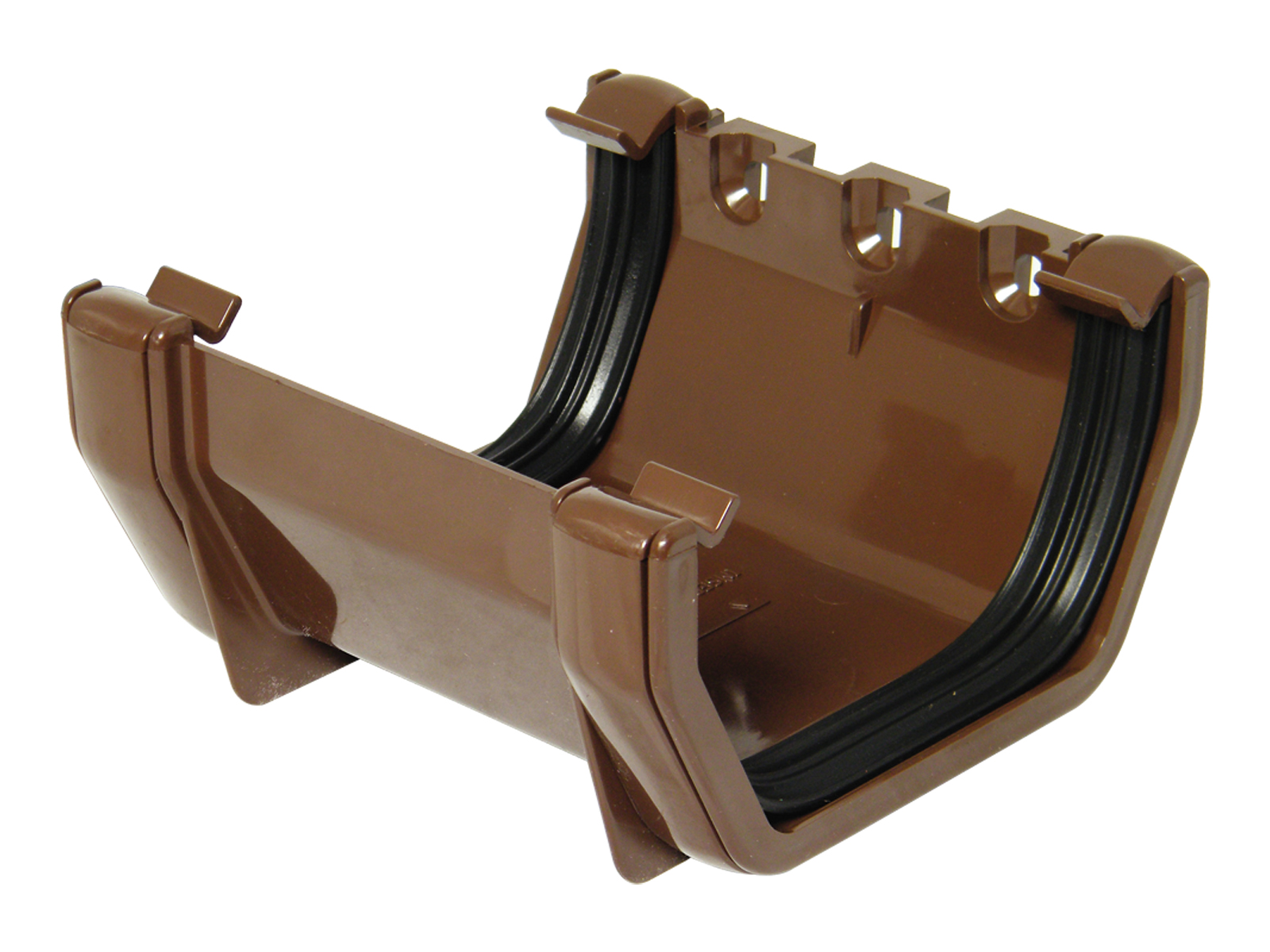 FLOPLAST SQUARE LINE GUTTER - RUS1 UNION BRACKET - BROWN