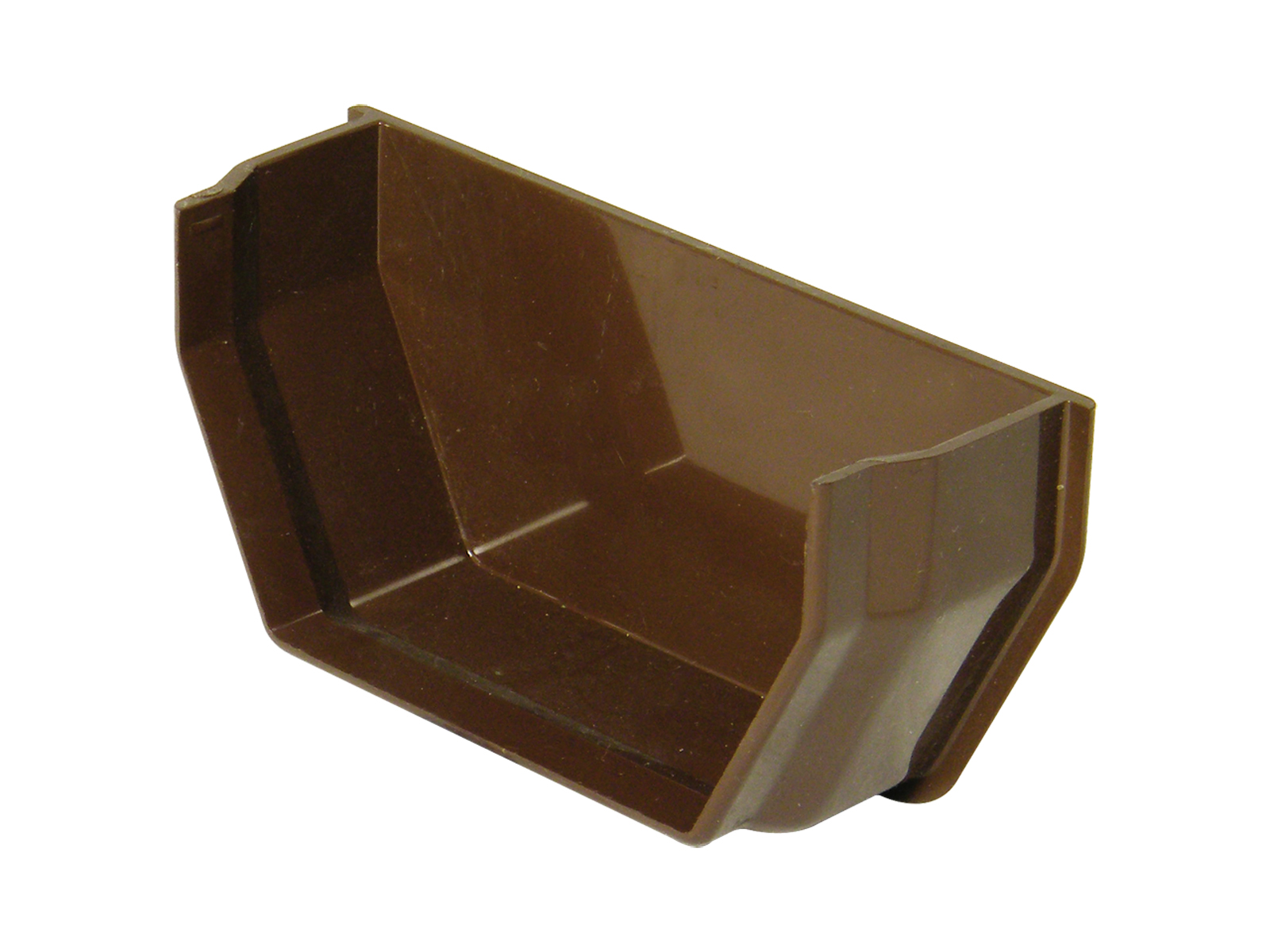 FLOPLAST SQUARE LINE GUTTER - RES2 INTERNAL STOPEND - BROWN