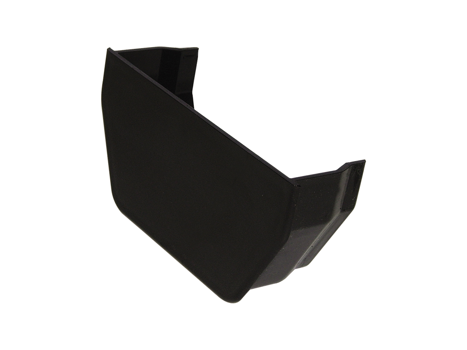 FLOPLAST SQUARE LINE GUTTER - RES2 INTERNAL STOPEND - BLACK