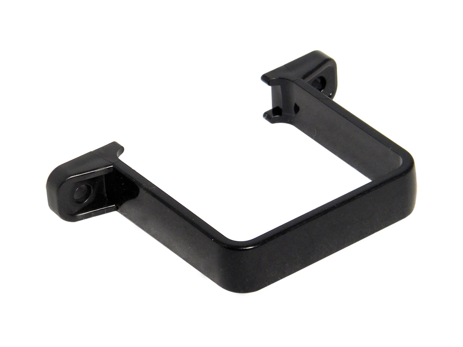 FLOPLAST RCS2BL 65MM SQUARE DOWNPIPE - FLUSH PIPE CLIP - BLACK
