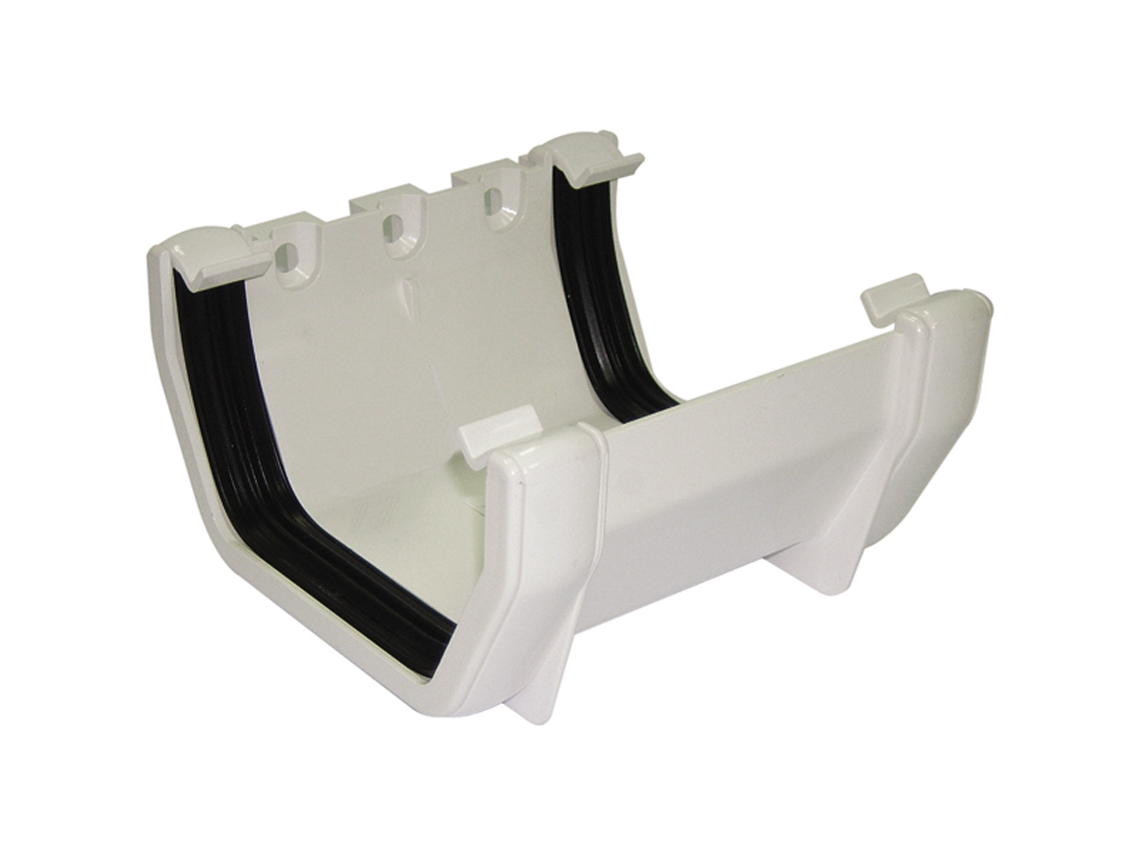 FLOPLAST SQUARE LINE GUTTER - RUS1 UNION BRACKET - WHITE