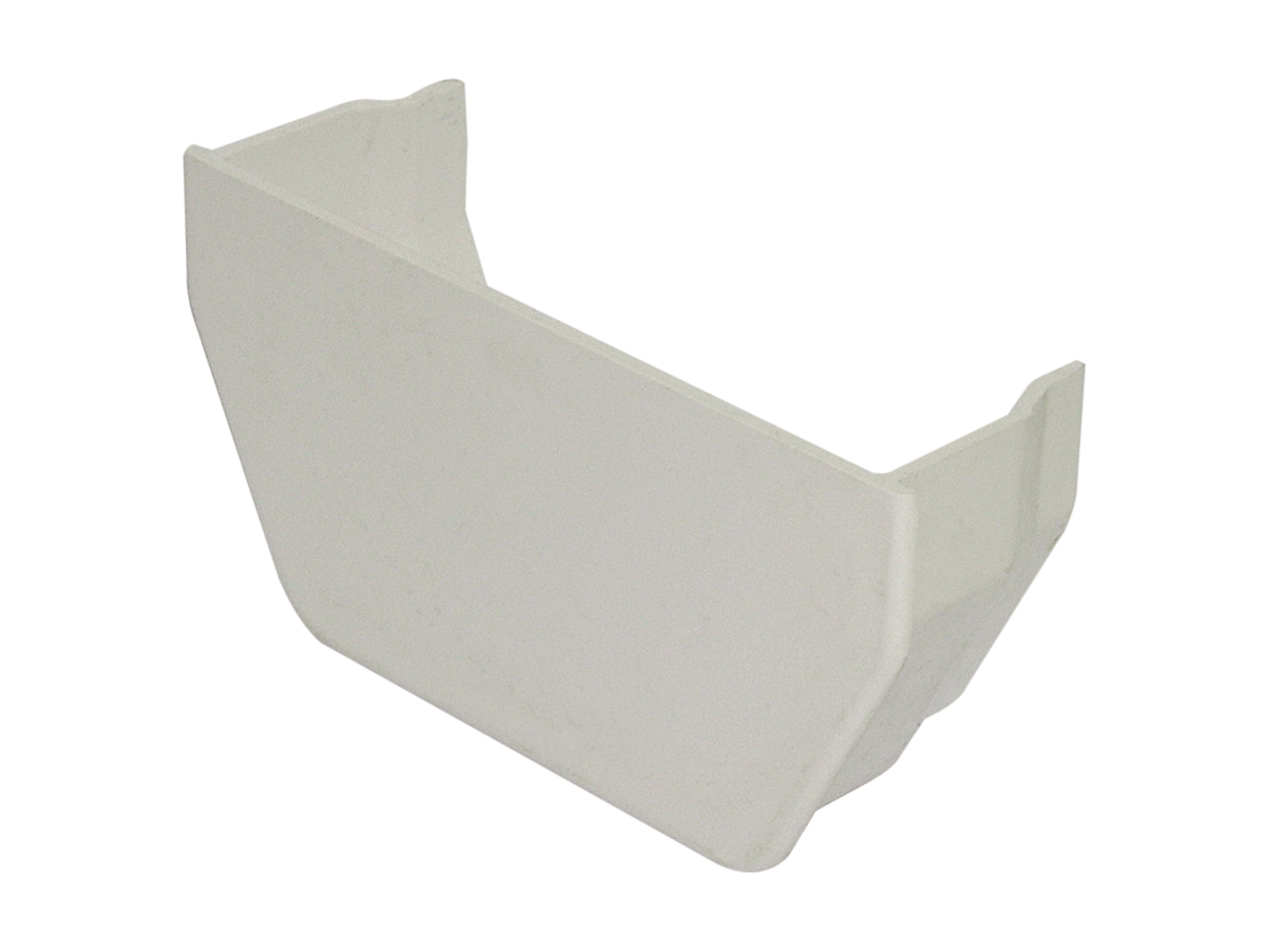 FLOPLAST SQUARE LINE GUTTER - RES2 INTERNAL STOPEND - WHITE