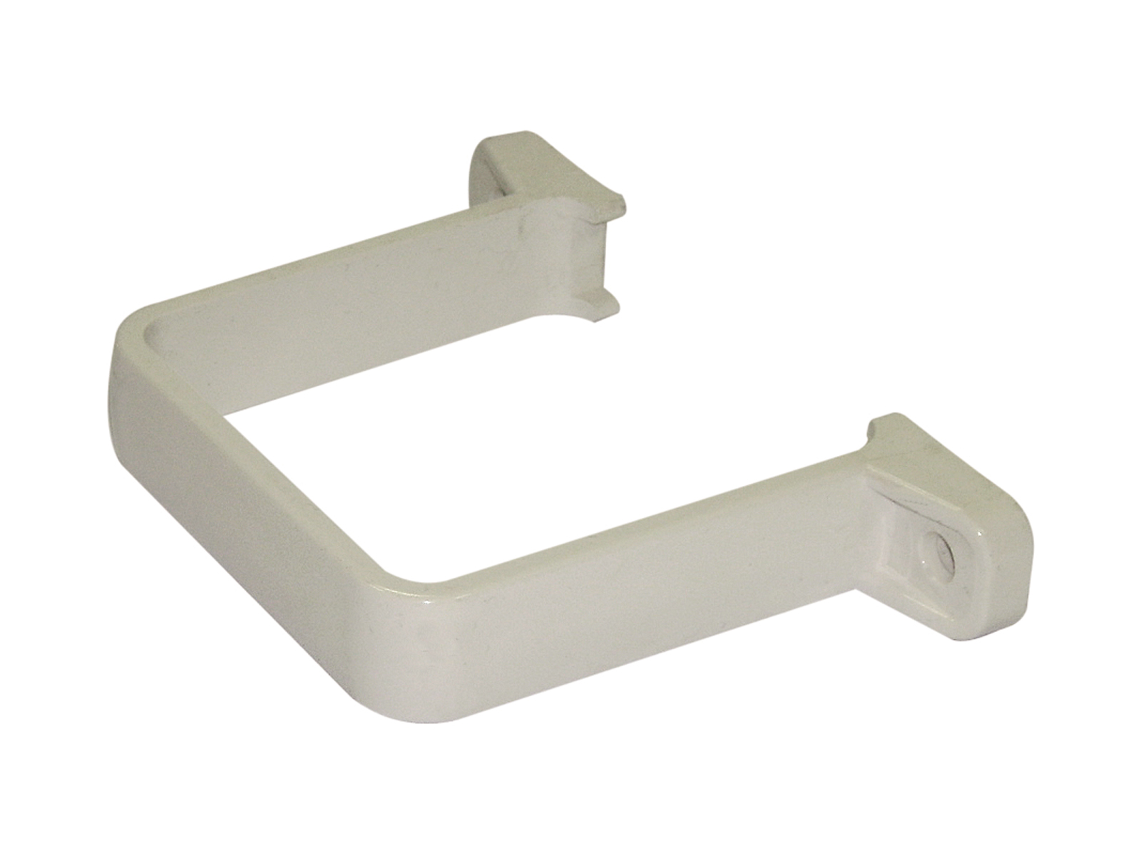 FLOPLAST RCS2WH 65MM SQUARE DOWNPIPE - FLUSH PIPE CLIP - WHITE