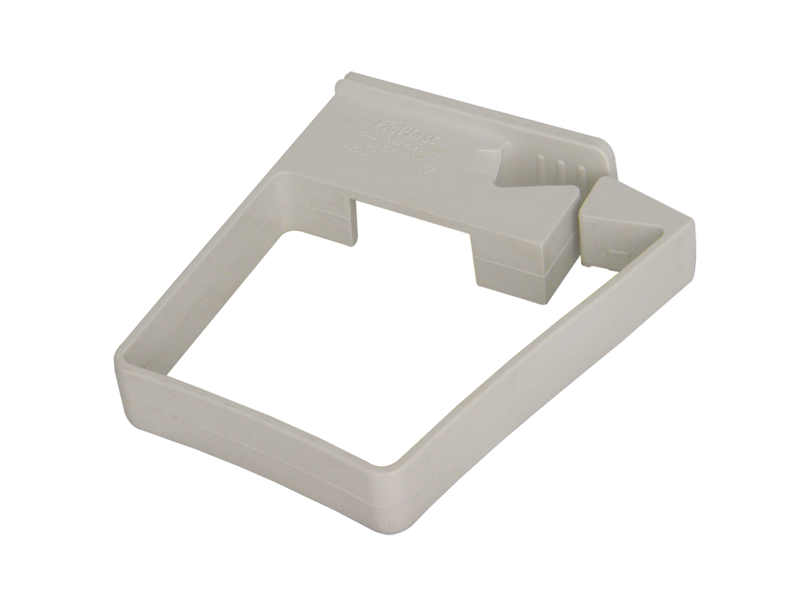 FLOPLAST RCS3WH 65MM SQUARE DOWNPIPE - SINGLE FIX PIPE CLIP - WHITE