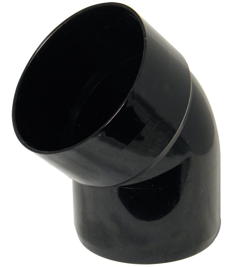 FLOPLAST SP435BL 110MM RING SEAL SOIL SYSTEM - 135* OFFSET BEND SS - BLACK