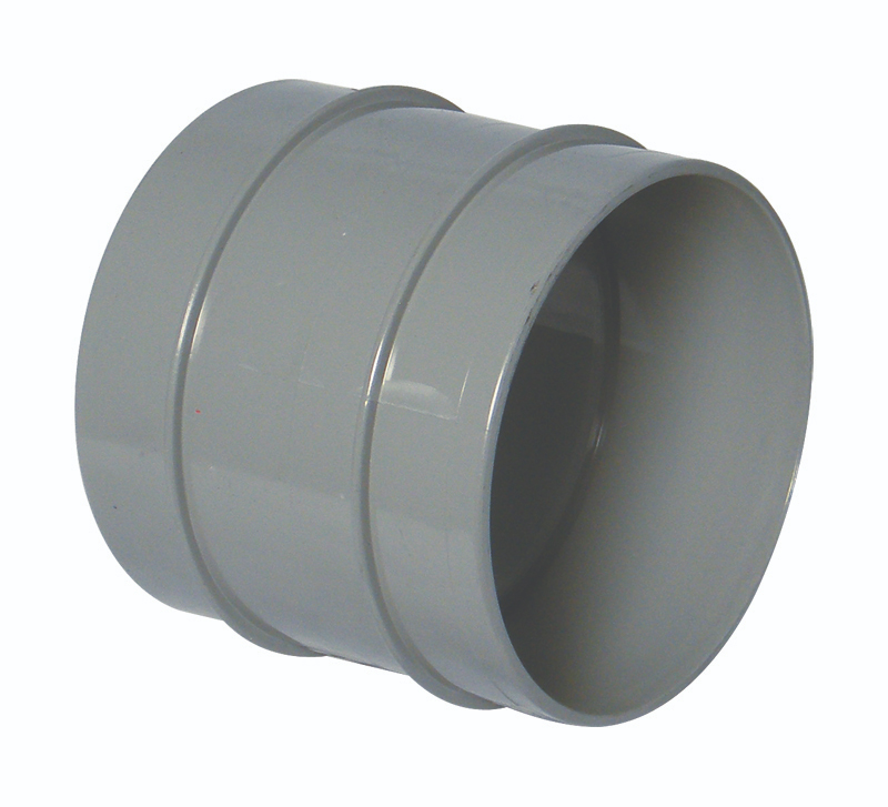FLOPLAST SS106G COUPLING DS 110MM SOLV SOIL OLIVE GREY