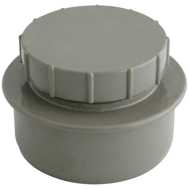 FLOPLAST SS292G ACCESS CAP 110MM SOLV SOIL OLIVE GREY