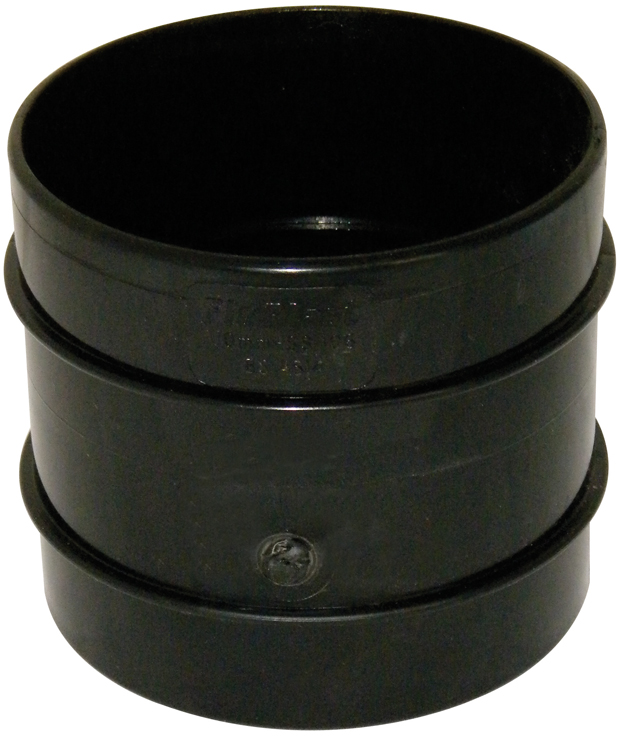 FLOPLAST SS106BL COUPLING DS 110MM SOLV SOIL BLACK