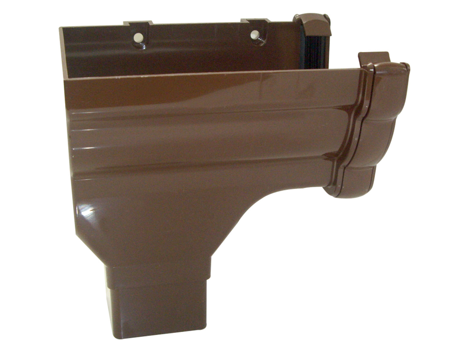 RON2BR LH S/END OUTLET NIAG GUTTER BROWN