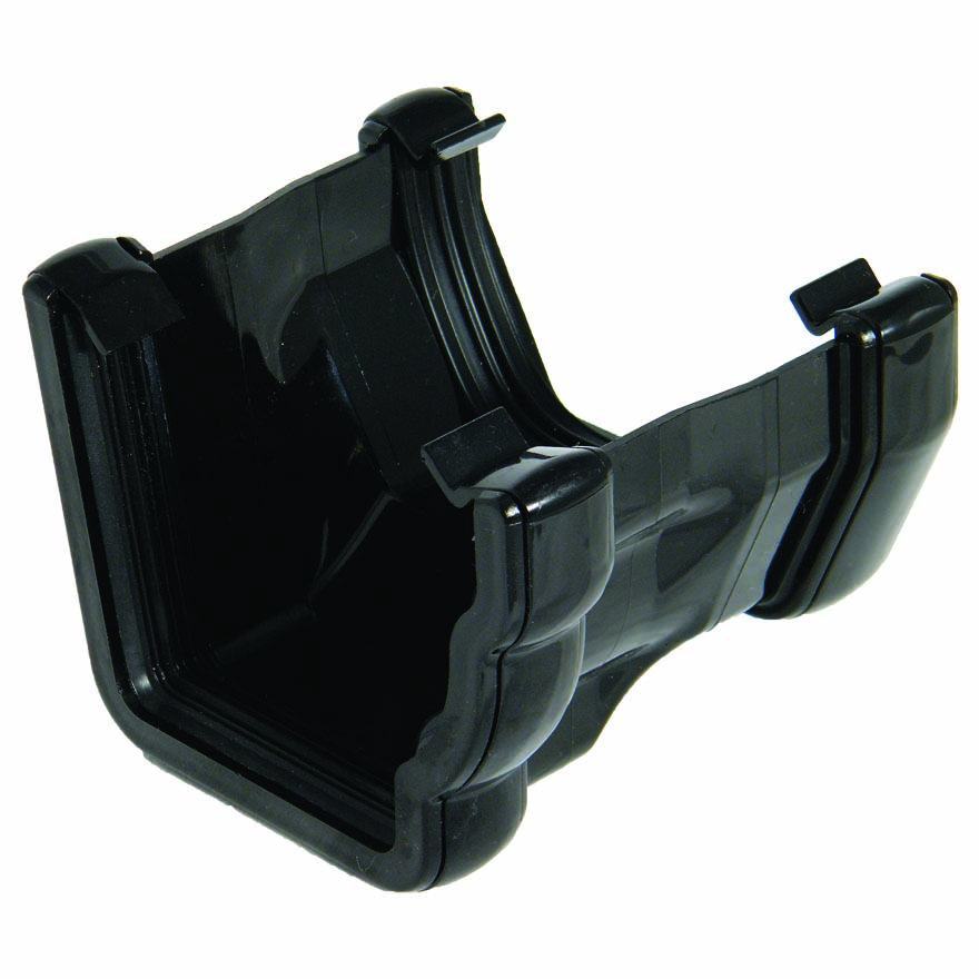 FLOPLAST NIAGARA TO SQUARE LINE GUTTER ADAPTOR - R/H RNS3 - BLACK