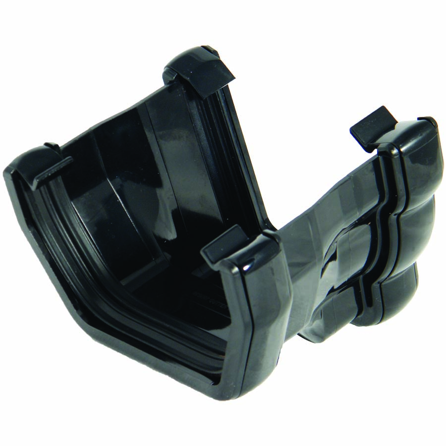 FLOPLAST NIAGARA TO SQUARE LINE GUTTER ADAPTOR - L/H RNS4 - BLACK