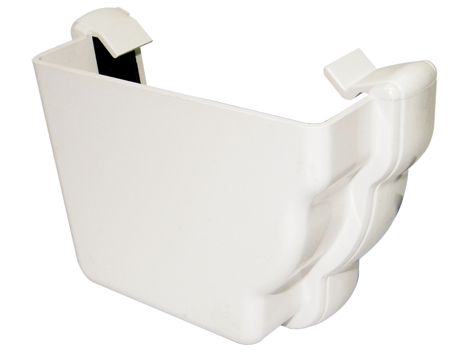 REN1W LH EXT END NIAG GUTTER WHITE