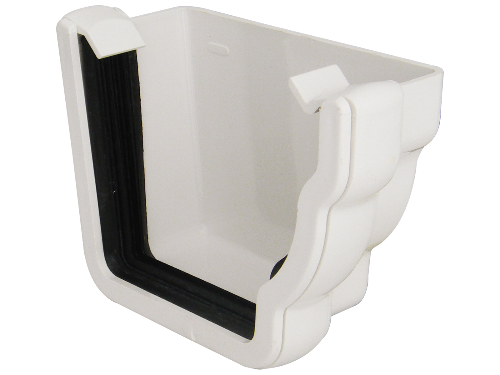 REN2W RH EXT END NIAG GUTTER WHITE
