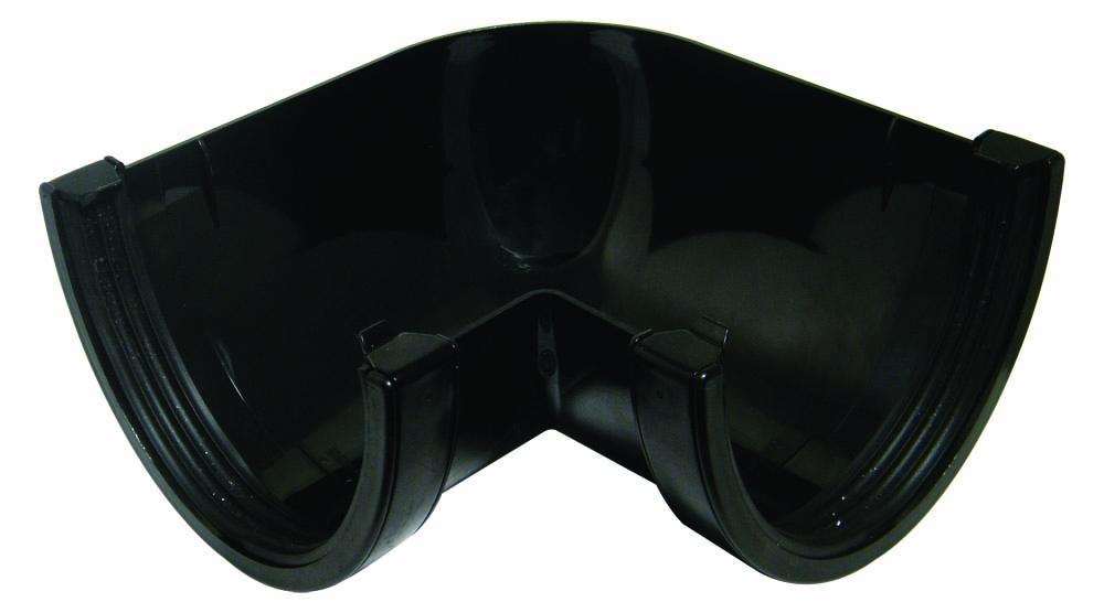 FLOPLAST XTRAFLO GUTTER SYSTEM - RAX1 90* ANGLE - BLACK